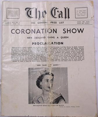 Magazine - The Call -   Waikato Winter Show General Prize List 1953