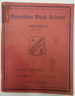 School exercise book – arithmetic