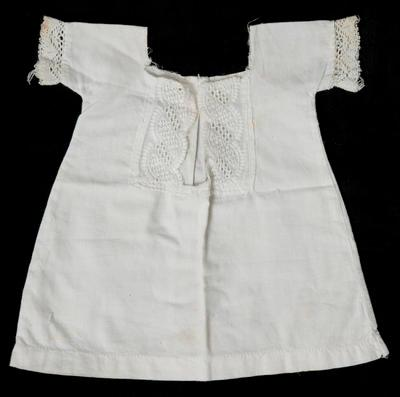 White doll's dress by Lucy Maud Morrison