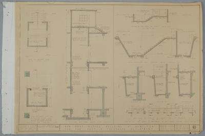 Architectural drawings (public buildings) - Hamilton Post Office for Post & Telegraph Dept., Victoria Street, Hamilton