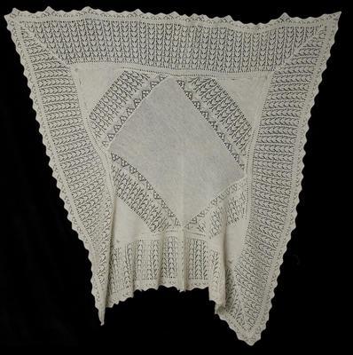 Shawl - Babies Knitted Shawl