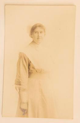 Photograph of nurse, possibly Olive Exley