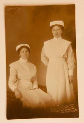 Two nurses May and Harriet Roberts