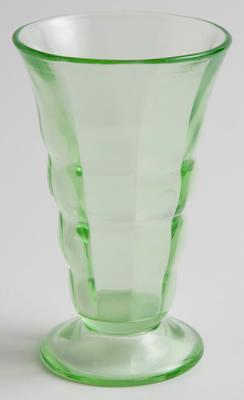 Vase, depression glass