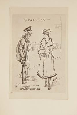 "Postcard - ""The Spirit of the Bayonet""."