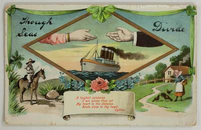 "Postcard - ""Though Seas Divide"""