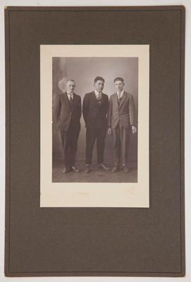 Photograph - portrait of three men