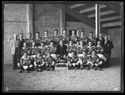 Glass plate negative – Hamilton rugby club team