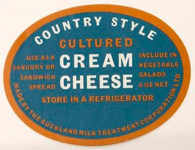 Label, Country style culture cream cheese