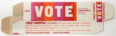Box, Vote toothpaste