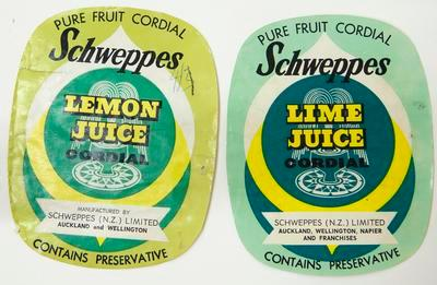 Label, Flavoured cordial