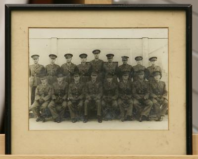 """Photograph - """"4 Mes Office 1942"""" New Zealand Army Officers"""
