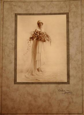 Photograph - Wedding portrait of Ruth Johnstone