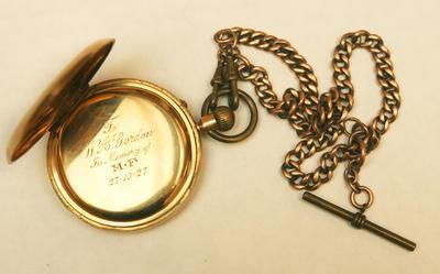 Pocket Watch - Mans 18 Carrat Gold &  Chain