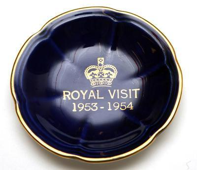 Plate, commemorative - Royal Visit 1953-1954