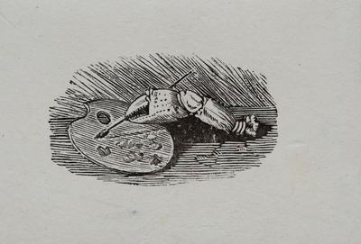 Claw [Claw with Brush and Pallet] Tailpiece to Shoreler, History of British Birds