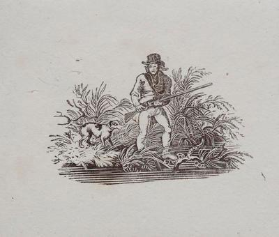 Hunting [Man holding gun with dog]