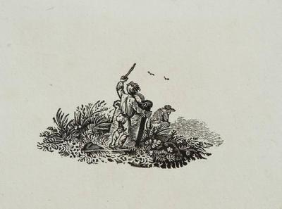 Graveyards [Boy Playing] Tailpiece to the Crested Cormorant History of Brit Birds Vol II