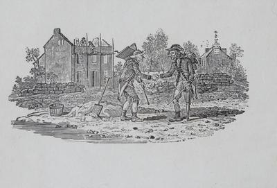 Men at Work/ Soldiers Returning Tailpiece to Crane, History of British Birds Vol II
