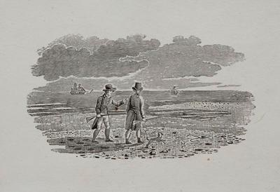 People Walking Tailpiece to Of The Sandpiper, Hist of British Birds Vol II