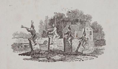 [Boys at Play] Tailpiece to Razor Bill, History of british Birds Vol II; Thomas Bewick; 1804; 1972/47/55