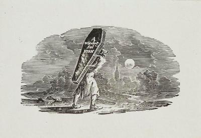Fable [Man carrying a coffin]Tailpiece to Water Ouzel, History of British Birds Vol II