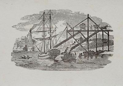 Industrial Port [Loading Coal] Tailpiece to of The Oyster Catcher, History of British Birds Vol II