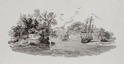 [Two ships beached]Tailpiece to The Gargeney, History of British Birds Vol II (6th)