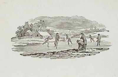 Skating Tailpiece to Of The Phalarope, History of British Birds Vol II