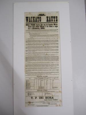 Document on linen