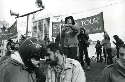 Photograph – Springbok tour protest