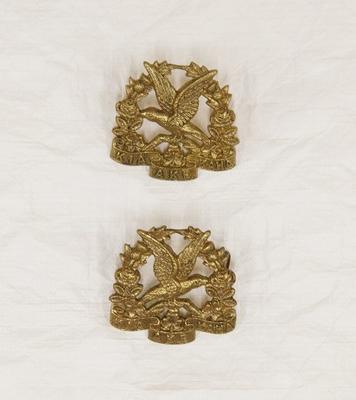 Collar badge – 14th South Otago Regiment