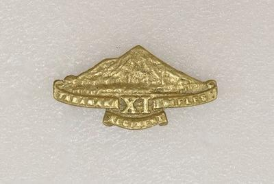Hat badge – 11th Taranaki Rifles