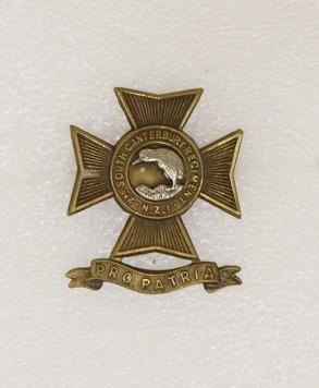 Hat badge – 2nd South Canterbury Regiment