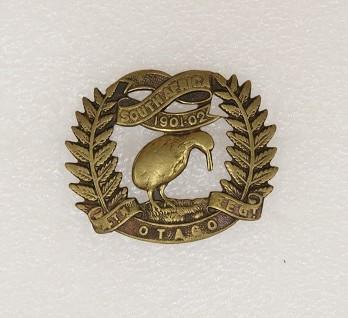 Hat badge – 4th Otago Regiment hat badge