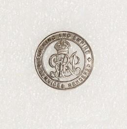Badge – Services Rendered, Ernest Anning