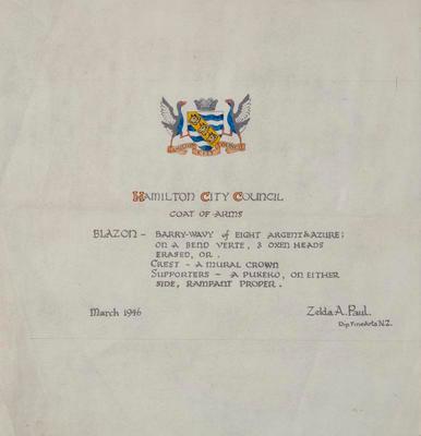Hamilton City Council Coat of Arms