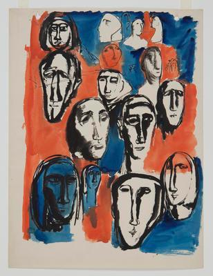 Heads, study sculpture