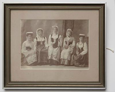 Photograph [group of women one holding a mandolin]