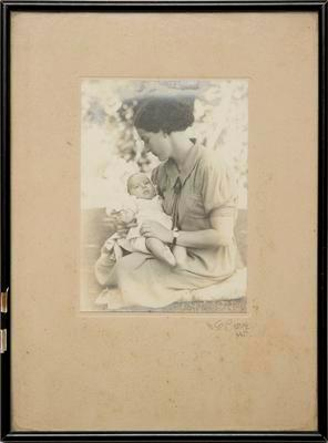 Photograph [portrait of mother and baby]