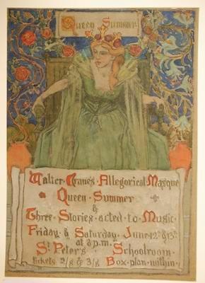 Poster – Walter Crane's Allegorical Masque 'Queen Summer'