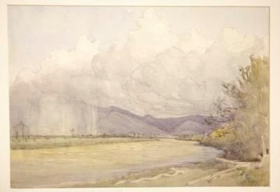 Untitled (cloudy landscape)