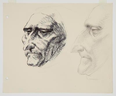 Untitled (two views of head)