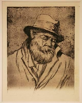 Untitled (bearded man wearing a hat)