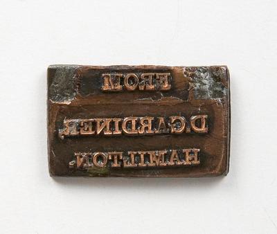 Stamp – D. Gardiner, Hamilton