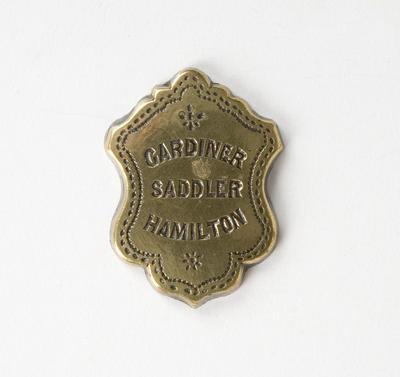 Badge – Gardiner Saddler, Hamilton
