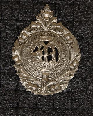 Hat badge – Argyle and Sutherland Highlanders
