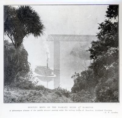 "Photograph - ""Morning Mists on the Waikato River at Hamilton"""