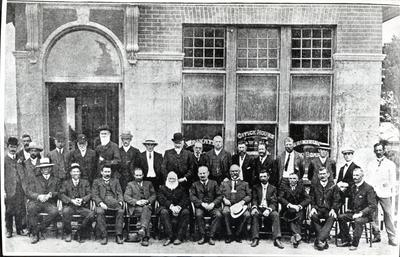 Photograph of opening of Waikato County Council's offices at Hamilton