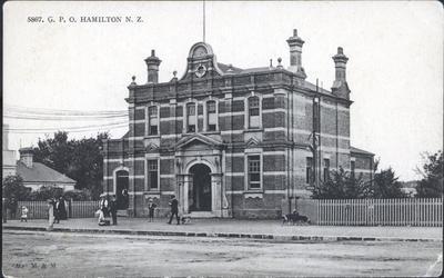 Postcard – General Post Office, Hamilton